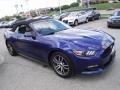 2016 Deep Impact Blue Metallic Ford Mustang EcoBoost Premium Convertible  photo #10