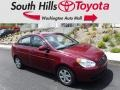 Wine Red 2010 Hyundai Accent GLS 4 Door