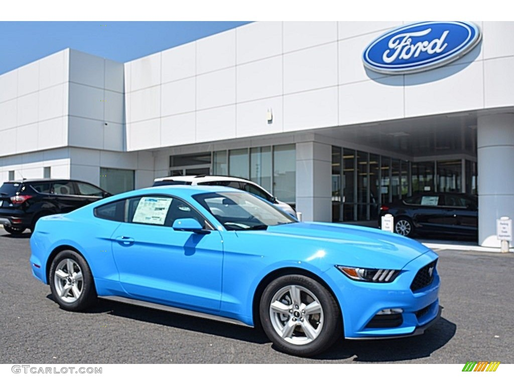 2017 mustang v6 coupe grabber blue ebony photo 1