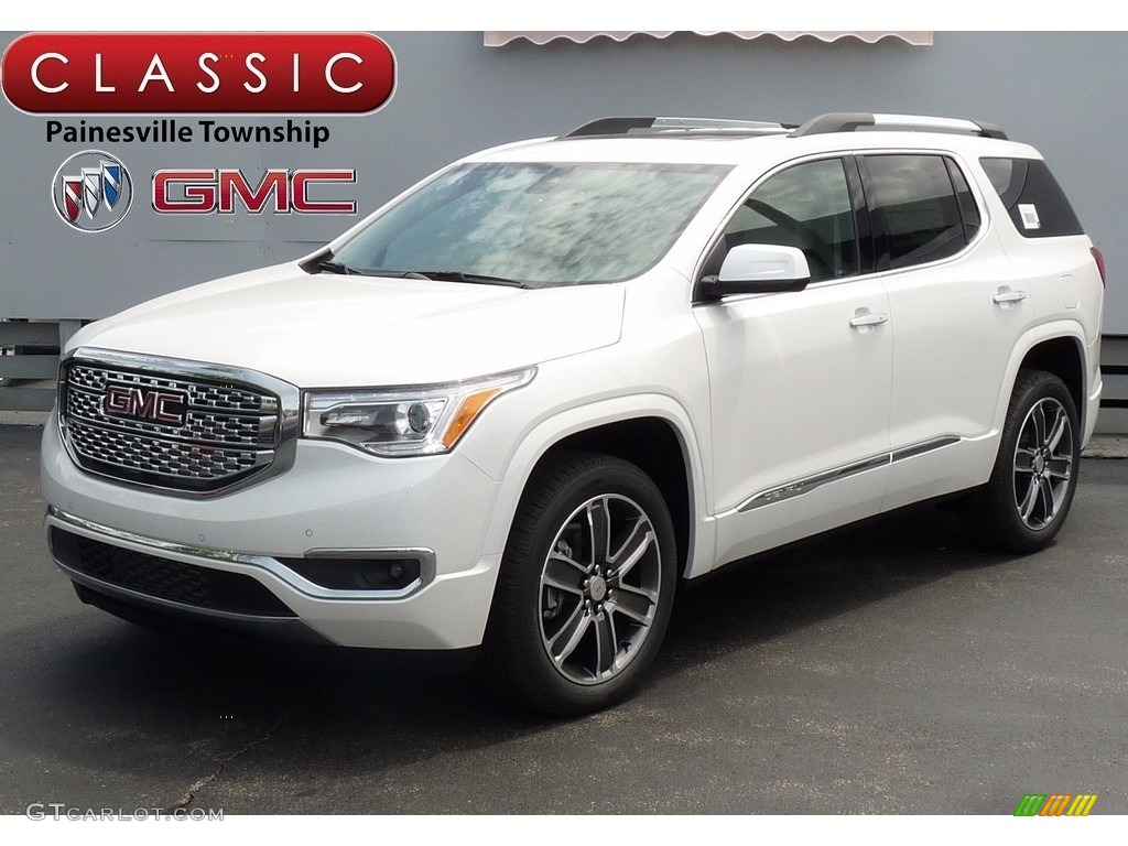 2017 white frost tricoat gmc acadia denali awd 120399434 car color galleries. Black Bedroom Furniture Sets. Home Design Ideas