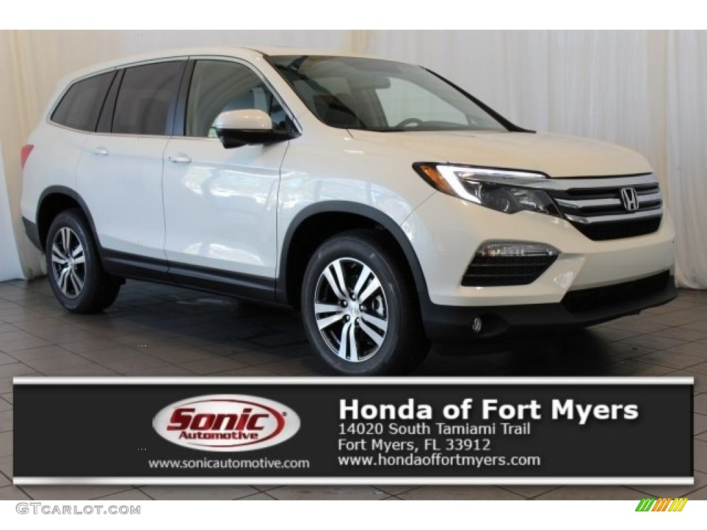 2017 white diamond pearl honda pilot ex l awd 120399206 car color galleries. Black Bedroom Furniture Sets. Home Design Ideas