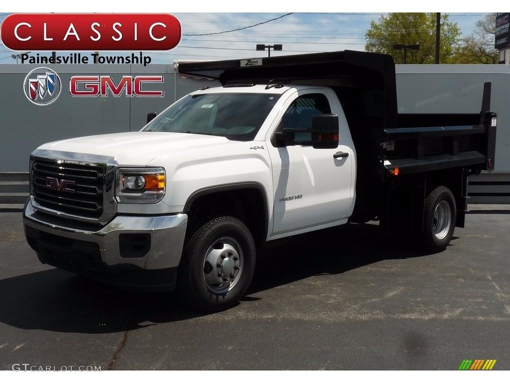 2017 Summit White GMC Sierra 3500HD Regular Cab 4x4 Dump ...