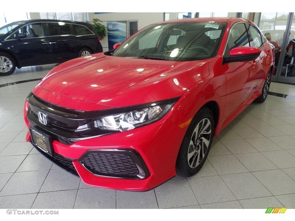 2017 rallye red honda civic lx hatchback 120423131 photo. Black Bedroom Furniture Sets. Home Design Ideas