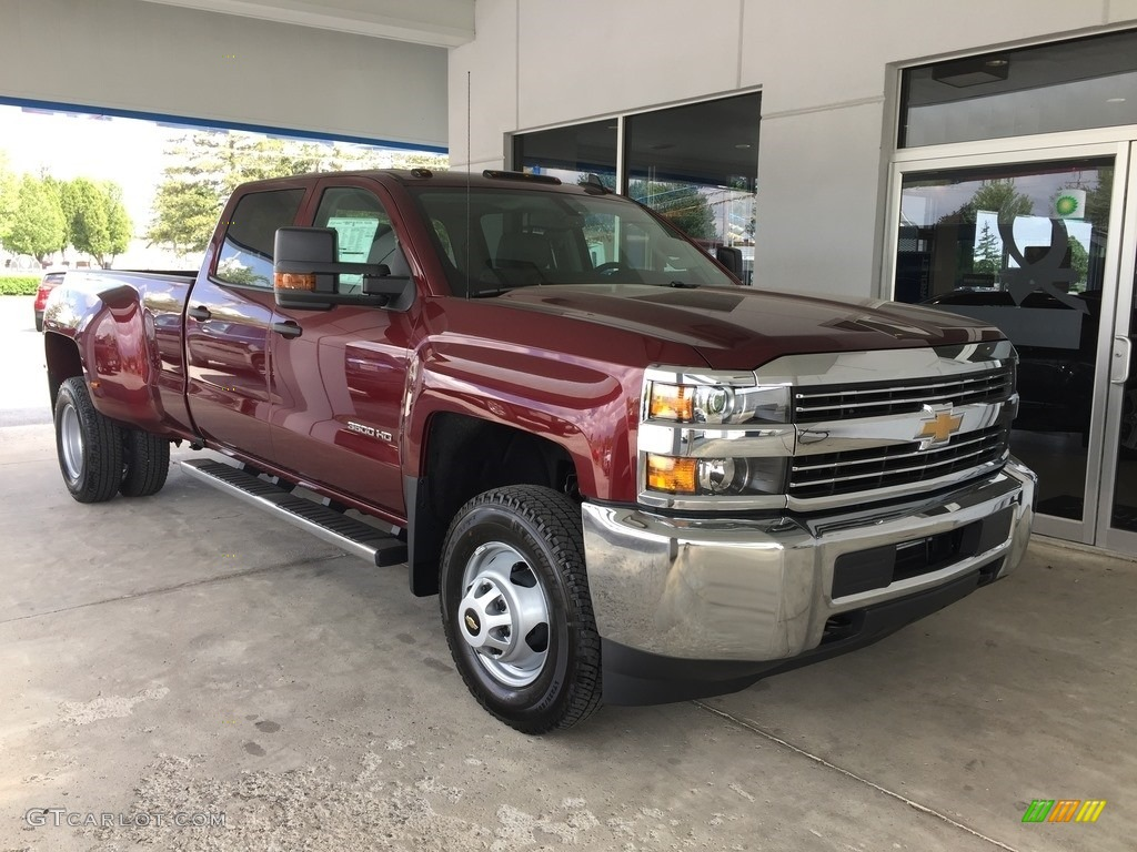2017 butte red metallic chevrolet silverado 3500hd work truck crew cab dual rear wheel 4x4. Black Bedroom Furniture Sets. Home Design Ideas
