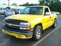 2001 Yellow Chevrolet Silverado 1500 Regular Cab  photo #2