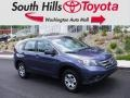 2014 Twilight Blue Metallic Honda CR-V LX AWD  photo #1