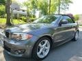 Mineral Gray Metallic 2013 BMW 1 Series 128i Convertible