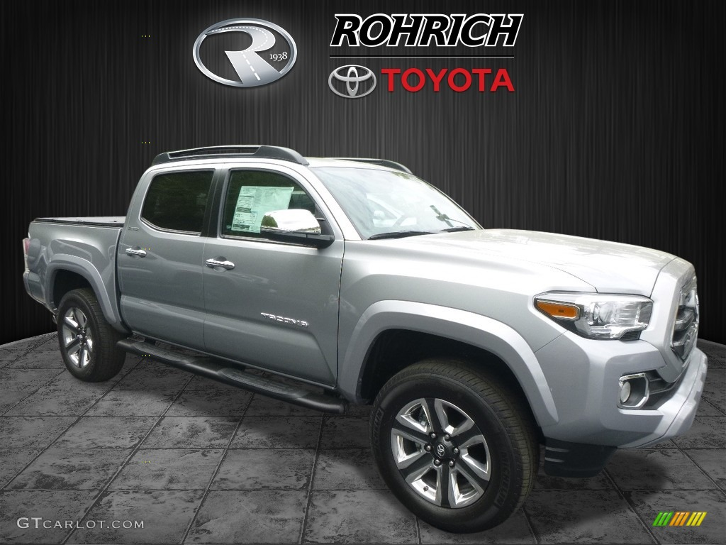 2017 Silver Sky Metallic Toyota Tacoma Limited Double Cab 4x4 120560835 Car