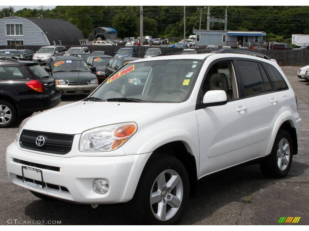 2004 super white toyota rav4 4wd 12030564 photo 7 car color galleries. Black Bedroom Furniture Sets. Home Design Ideas