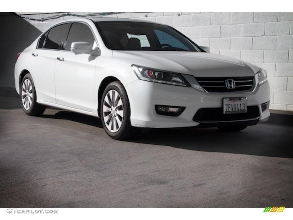 2014 white orchid pearl honda accord ex l v6 sedan for Honda accord ex l v6