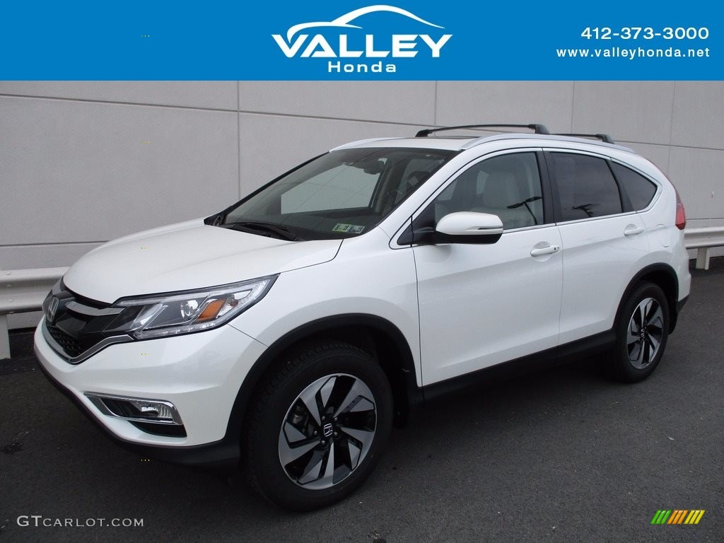2016 white diamond pearl honda cr v touring awd 120609102 for Honda crv 2016 white
