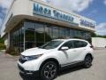 2017 White Diamond Pearl Honda CR-V Touring AWD  photo #1