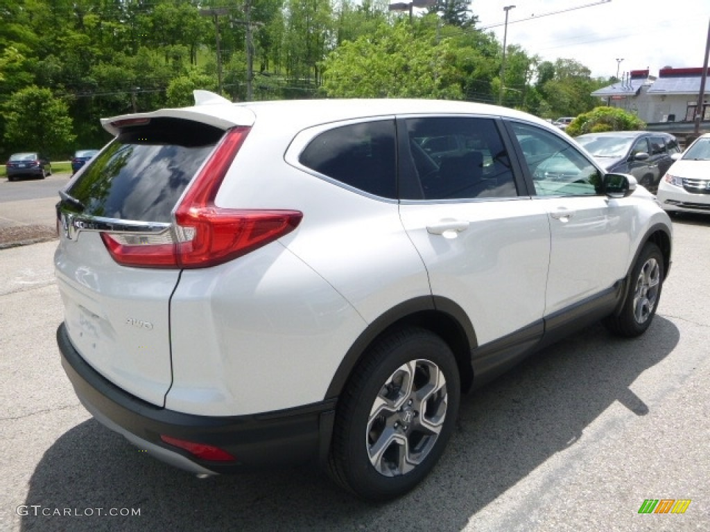2017 CR-V EX-L AWD - White Diamond Pearl / Black photo #4
