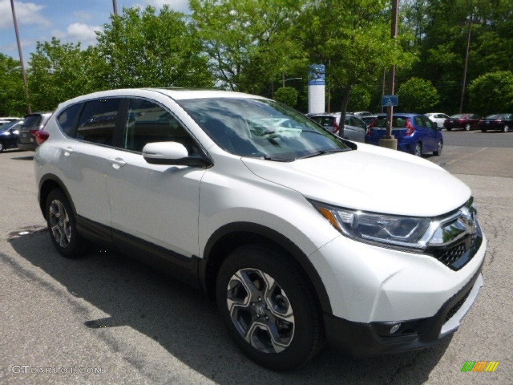 2017 CR-V EX-L AWD - White Diamond Pearl / Black photo #5