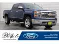 2014 Blue Topaz Metallic Chevrolet Silverado 1500 LTZ Crew Cab #120622735
