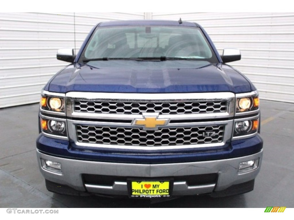 2014 Silverado 1500 LTZ Crew Cab - Blue Topaz Metallic / Jet Black photo #2