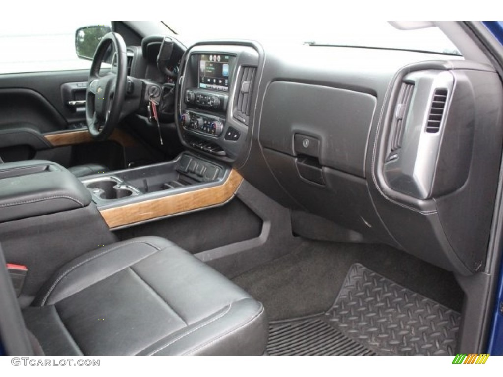 2014 Silverado 1500 LTZ Crew Cab - Blue Topaz Metallic / Jet Black photo #29