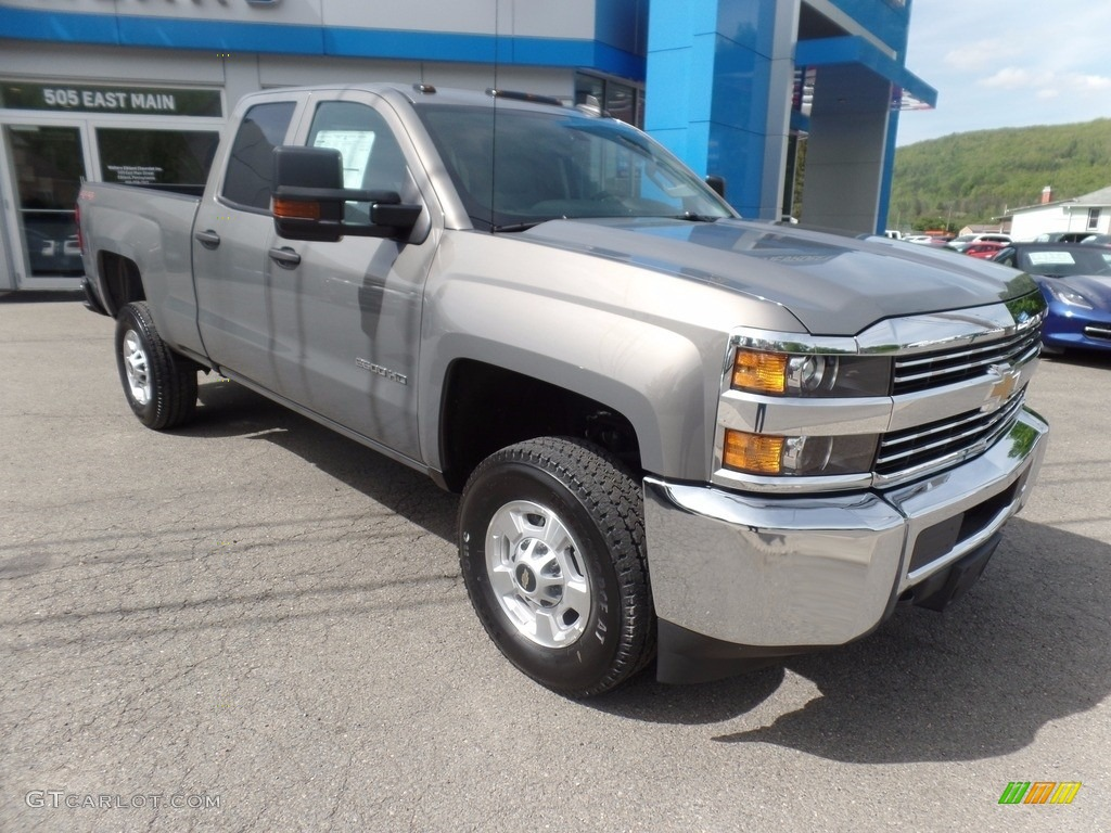 2017 silver ice metallic chevrolet silverado 2500hd work truck double cab 4x4 120622674 photo. Black Bedroom Furniture Sets. Home Design Ideas