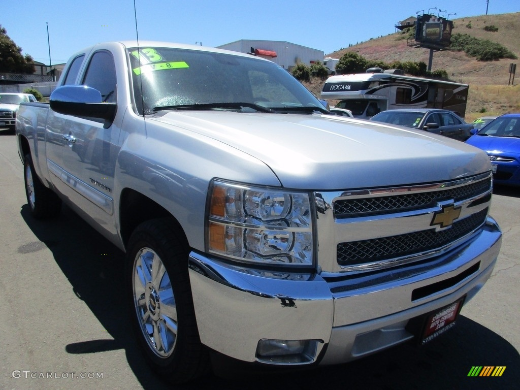 2013 Silverado 1500 LT Extended Cab - Silver Ice Metallic / Ebony photo #1