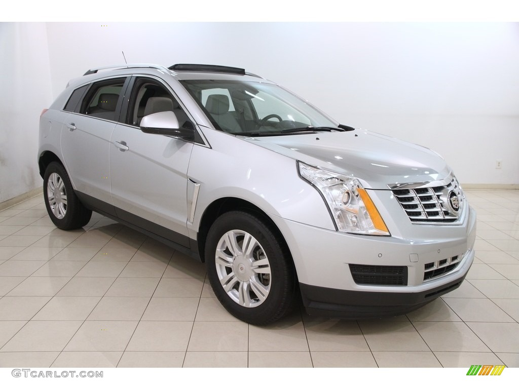 2015 radiant silver metallic cadillac srx luxury awd 120660286 photo 2 car. Black Bedroom Furniture Sets. Home Design Ideas