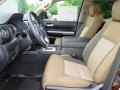 2017 Toyota Tundra Sand Beige Interior Front Seat Photo
