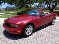 2007 Redfire Metallic Ford Mustang V6 Premium Convertible  photo #5