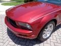 2007 Redfire Metallic Ford Mustang V6 Premium Convertible  photo #26