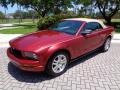 2007 Redfire Metallic Ford Mustang V6 Premium Convertible  photo #32