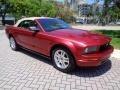 2007 Redfire Metallic Ford Mustang V6 Premium Convertible  photo #44