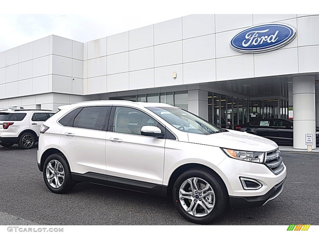 2017 White Platinum Metallic Ford Edge Titanium 120738588 Photo 20 Car Color