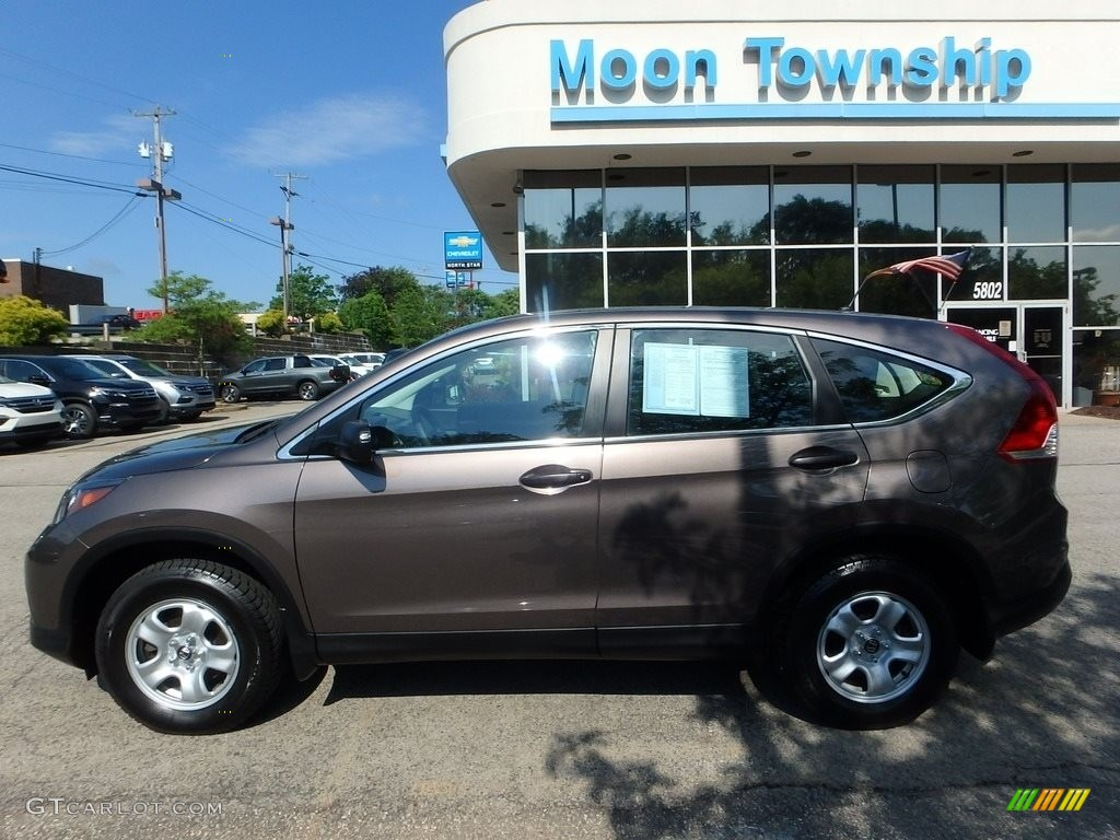 2014 CR-V LX AWD - Urban Titanium Metallic / Black photo #2