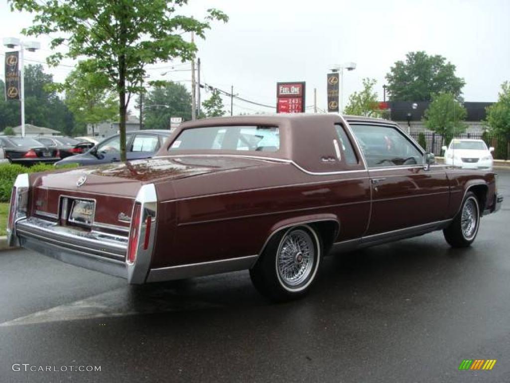 1984 Dark Crimson Maple Metallic Cadillac Fleetwood ...