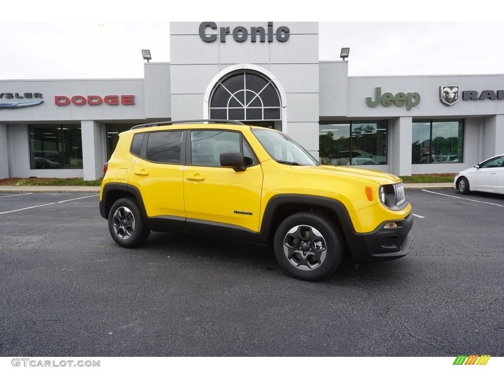 2017 solar yellow jeep renegade sport 120773956 car color galleries. Black Bedroom Furniture Sets. Home Design Ideas