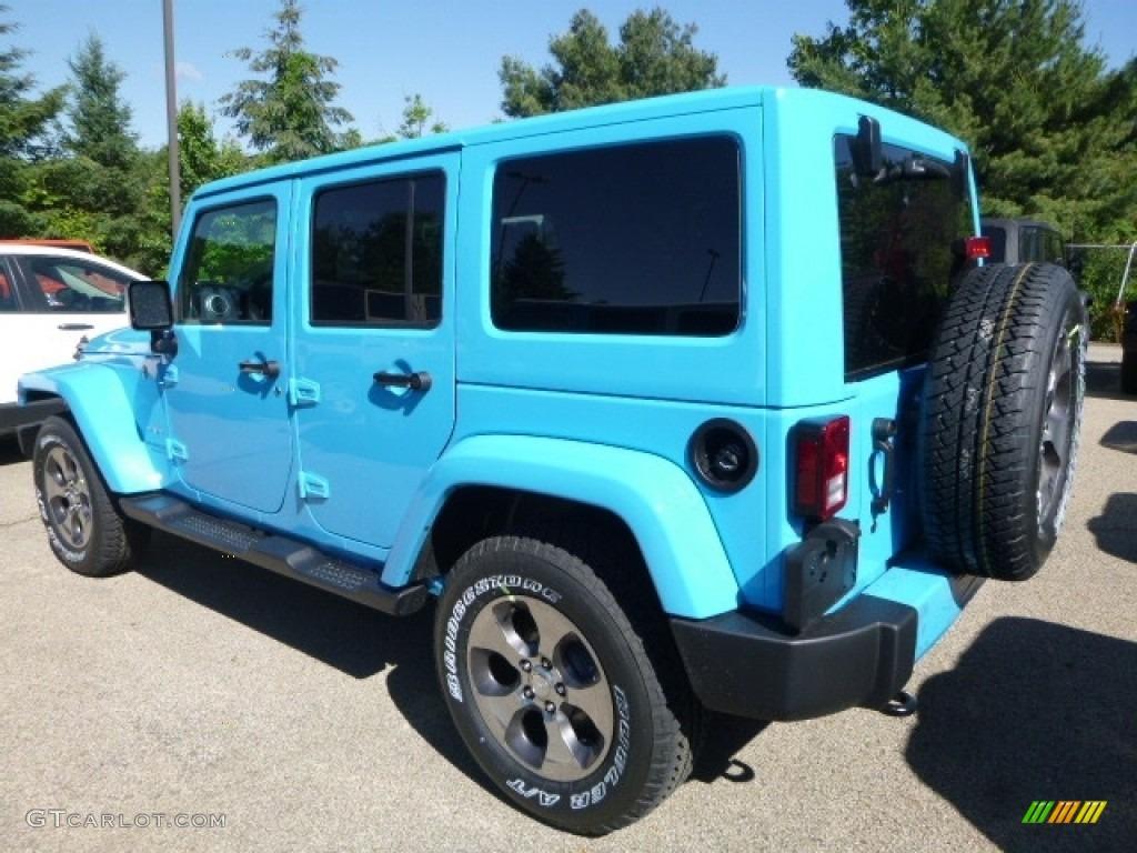2017 Chief Blue Jeep Wrangler Unlimited Sahara 4x4 120773898 Photo 2 Car