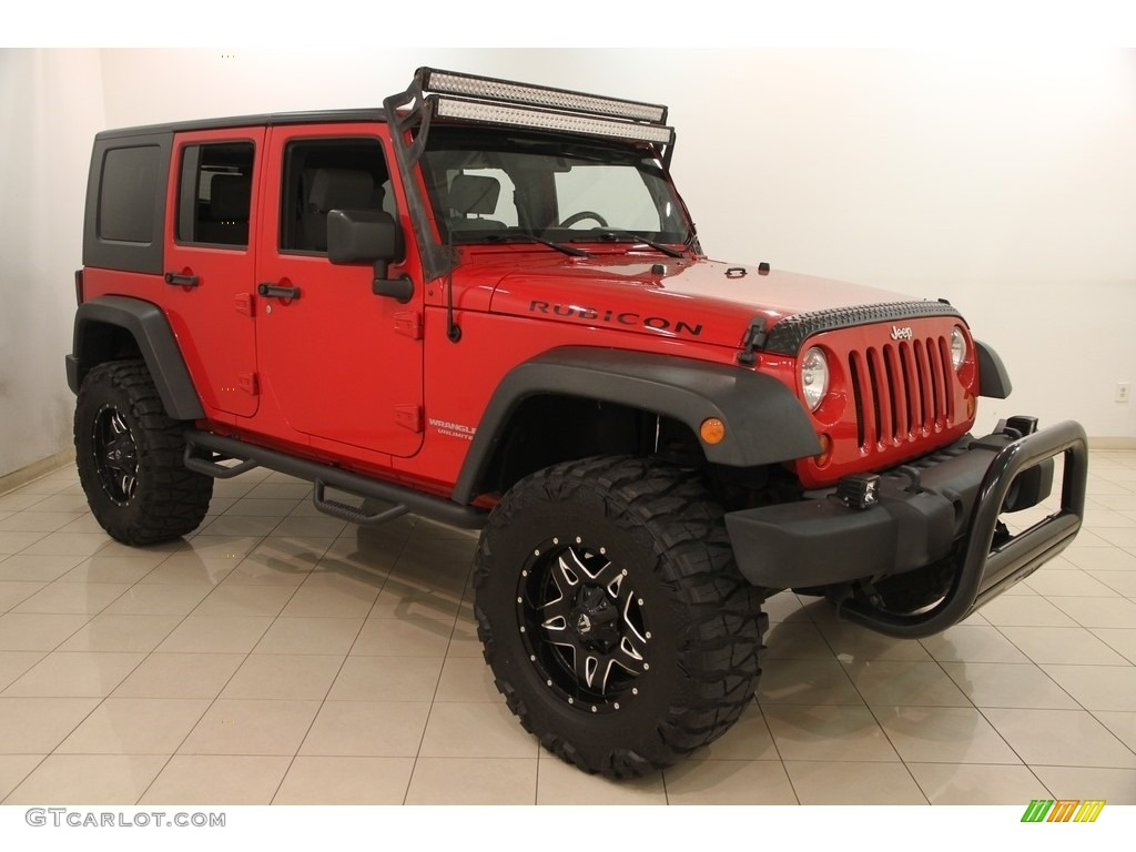 2010 flame red jeep wrangler unlimited rubicon 4x4. Black Bedroom Furniture Sets. Home Design Ideas