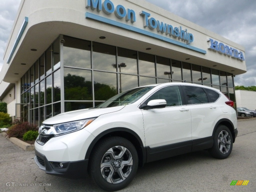 2017 CR-V EX AWD - White Diamond Pearl / Black photo #1