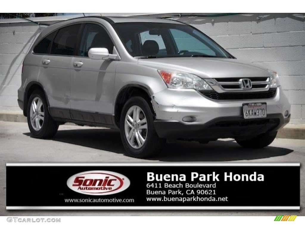 2010 CR-V EX-L - Alabaster Silver Metallic / Black photo #1