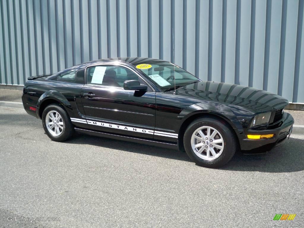 2008 black ford mustang v6 deluxe coupe 12096302 car color galleries. Black Bedroom Furniture Sets. Home Design Ideas