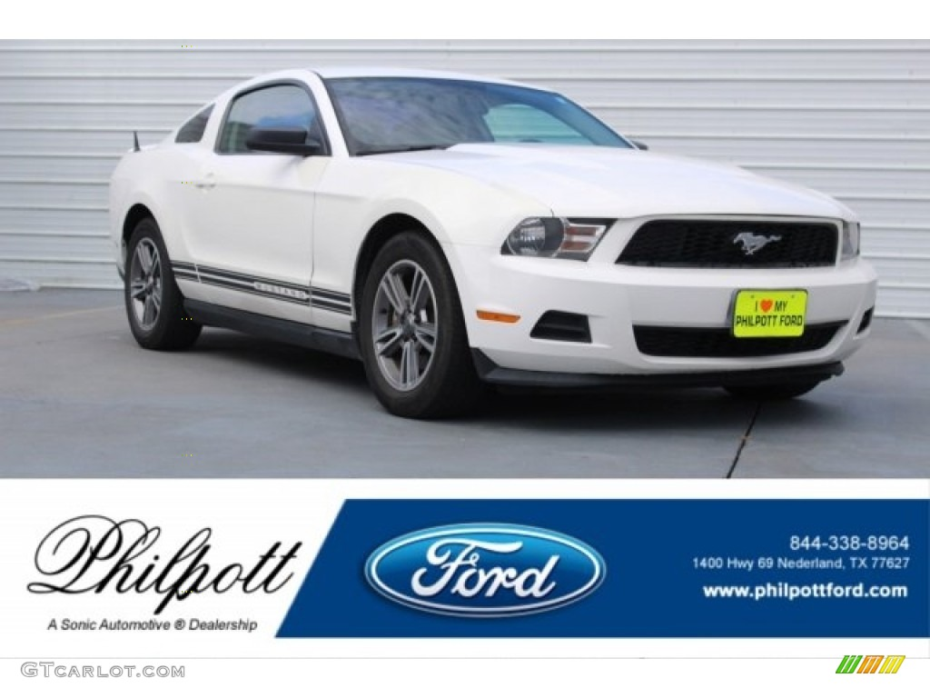 2011 Mustang V6 Premium Coupe - Performance White / Stone photo #1