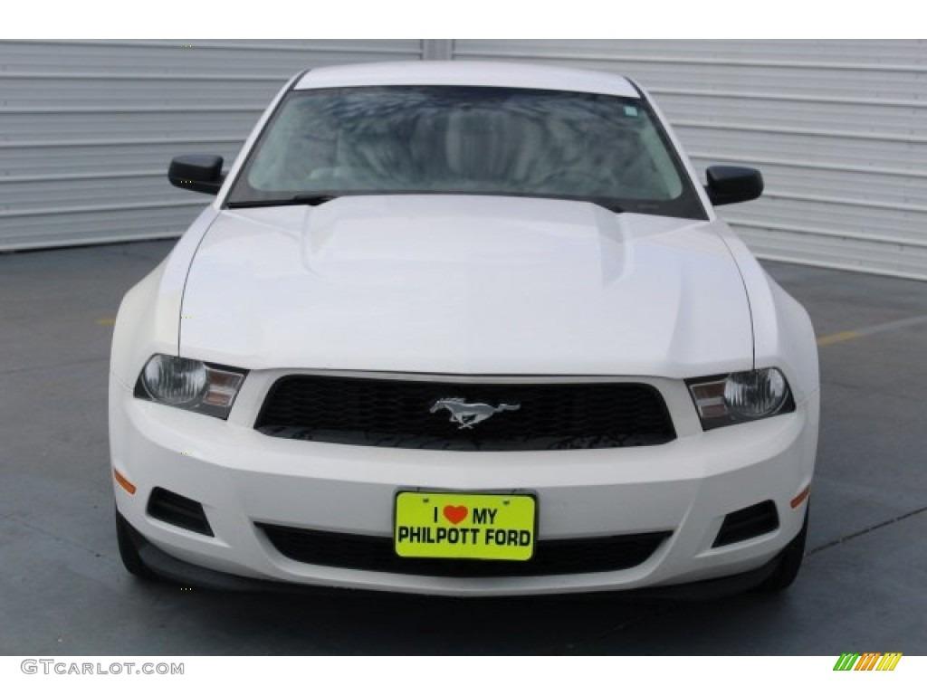 2011 Mustang V6 Premium Coupe - Performance White / Stone photo #2