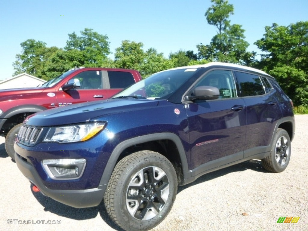 2017 Jazz Blue Pearl Jeep Compass Trailhawk 4x4 121149354 Gtcarlot Com Car Color Galleries