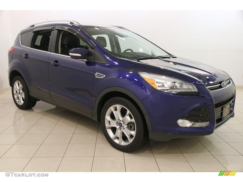 2014 Escape Titanium 2.0L EcoBoost 4WD - Deep Impact Blue / Charcoal Black photo #1