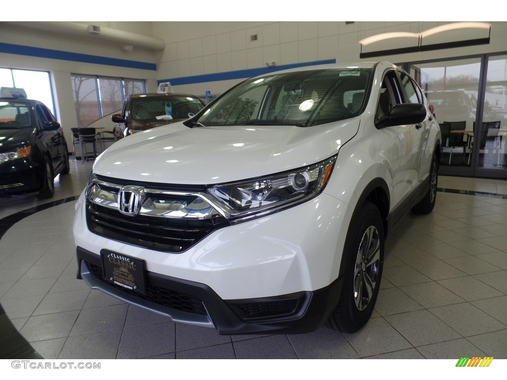 2017 CR-V LX AWD - White Diamond Pearl / Ivory photo #1
