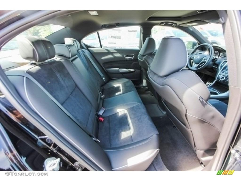 Ebony Interior 2018 Acura TLX V6 A-Spec Sedan Photo #121266848