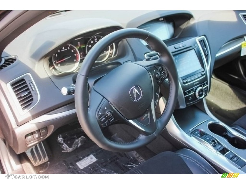 2018 Acura TLX V6 A-Spec Sedan Ebony Dashboard Photo #121267185