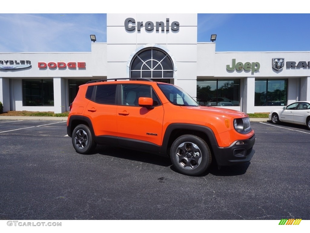 2017 Renegade Latitude - Omaha Orange / Bark Brown/Ski Grey photo #1