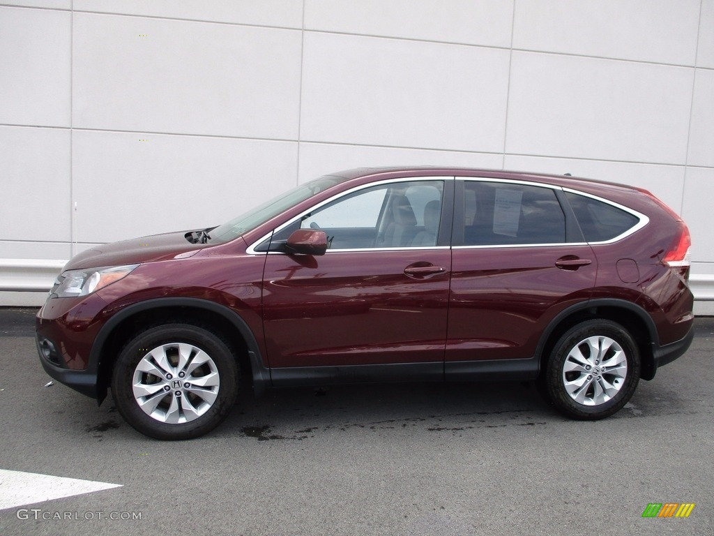 2014 CR-V EX AWD - Basque Red Pearl II / Gray photo #2