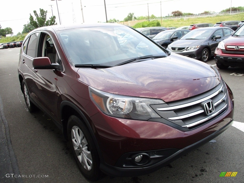 2014 CR-V EX AWD - Basque Red Pearl II / Gray photo #7