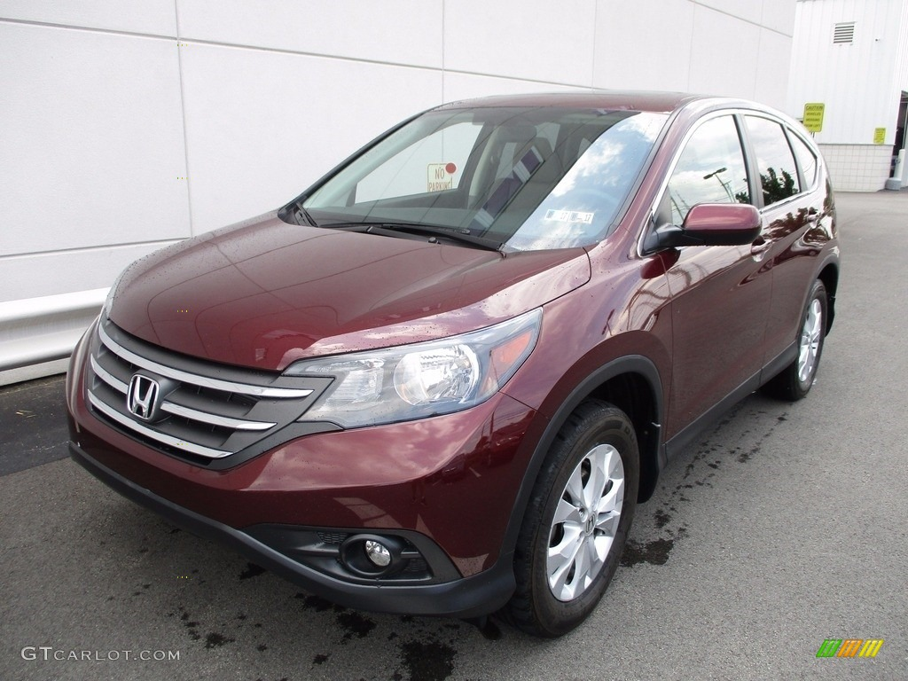 2014 CR-V EX AWD - Basque Red Pearl II / Gray photo #9
