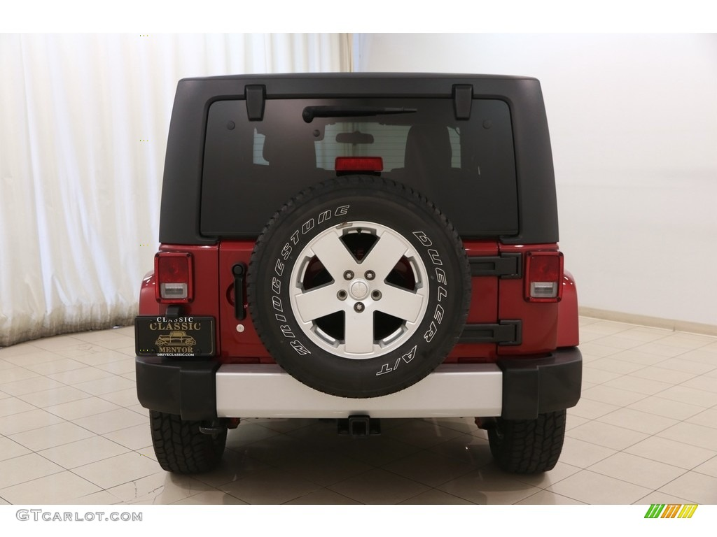 2011 Wrangler Sahara 4x4 - Deep Cherry Red Crystal Pearl / Black/Dark Saddle photo #18